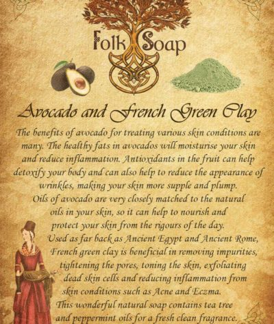 natural soap avocado and french green clay