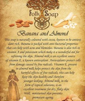 banana and almond milk soap bar