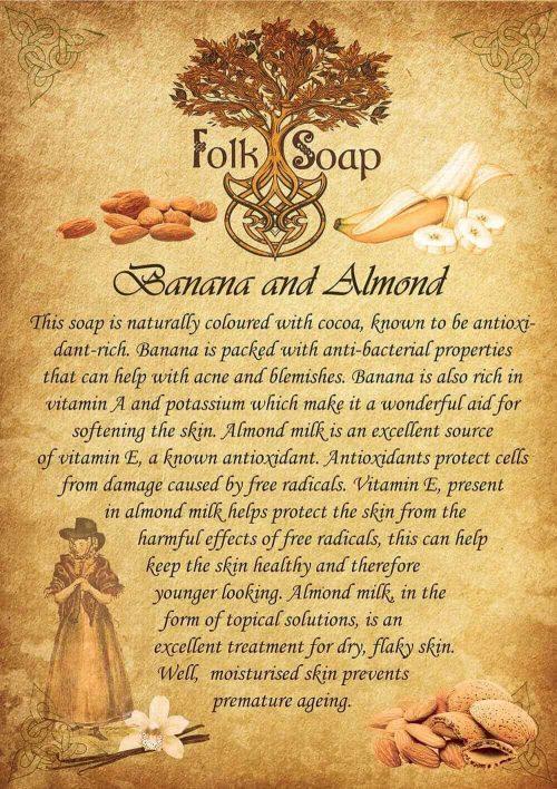 banana and almond milk soap bar