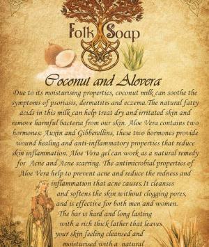 coconut and aloe vera soap bar