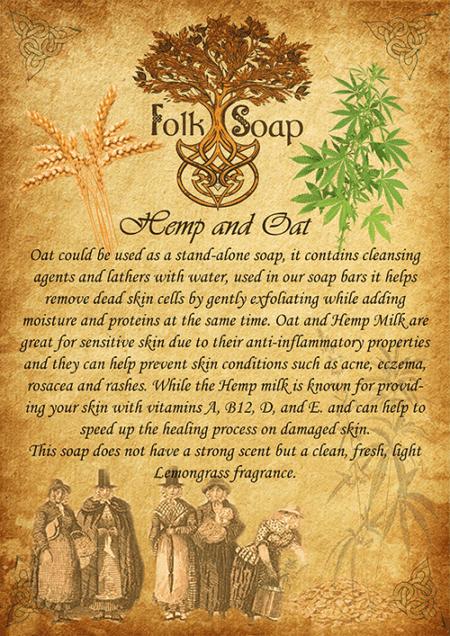 hemp and oat therapeutic soap bar