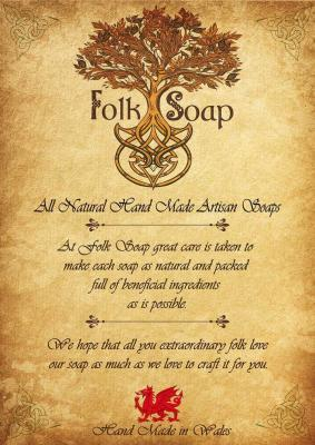 Folk soap hand made in wales