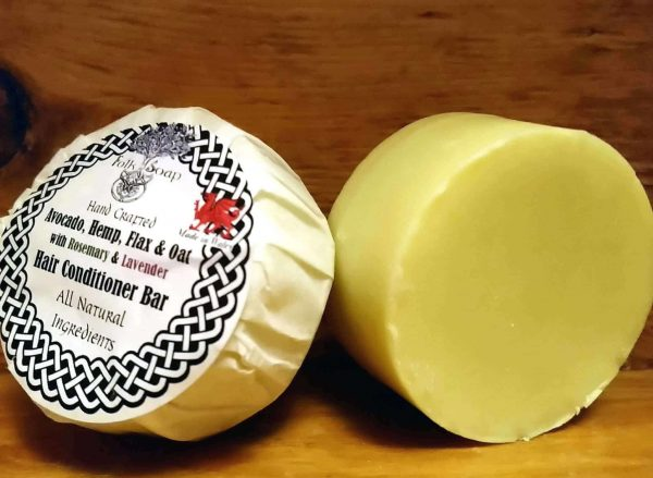 Solid Conditioner Bar with Avocado, Hemp, Flax & Oat