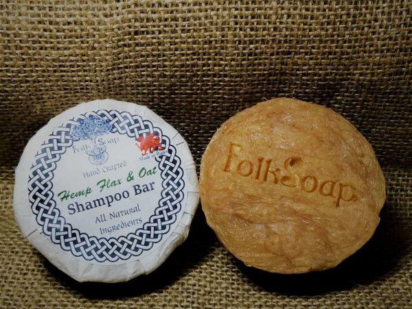 Solid Shampoo with Hemp, Oat and lemongrass