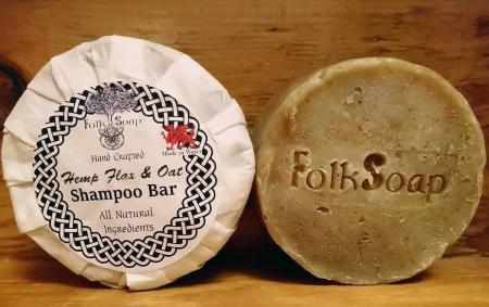 Hemp Flax and Oat Travel Shampoo Bar,