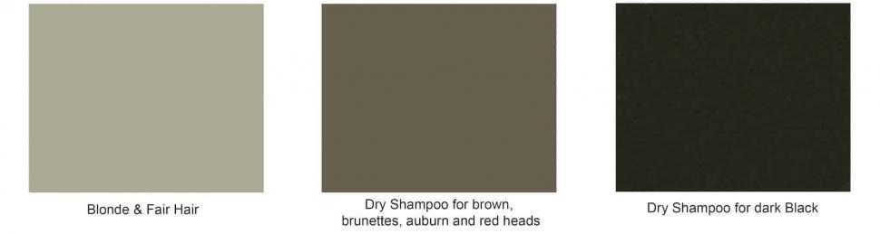 dry shampoo hair colours