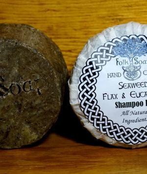 Shampoo Bar with Organic Kelp Seaweed, Avocado, eucalyptus, flax and oats