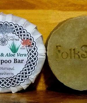Natural Shampoo Bar with coconut milk and aloe Vera