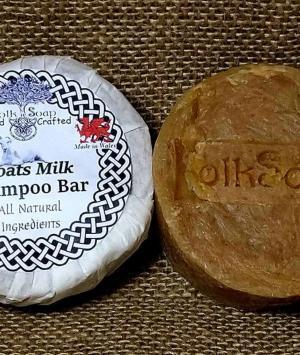 Goats milk solid shampoo bar, gentle unscented scalp care soap